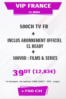 Abonnement IPTV France +500TV
