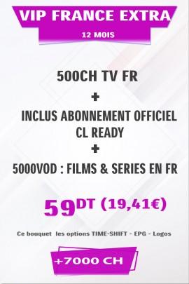 Abonnement IPTV France EXTRA +500TV + FULL VOD 4K & 3D