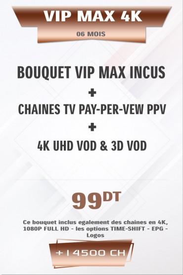 Abonnement IPTV VIP 4K + VOD 6 mois +38000 Chaines TV Live tunisie