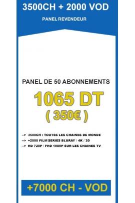 Revendeur IPTV 50 codes - 3500CH + 2000VOD
