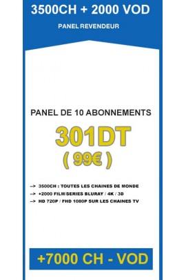 Revendeur IPTV 10 codes - 3500CH + 2000VOD