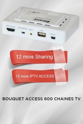 Récepteur Geant CX-1200HD + 12 mois IPTV Access 600 chaines TV