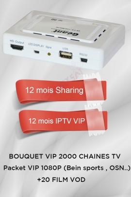 Récepteur Geant CX-1200HD + 12 mois IPTV VIP 2000 chaines TV
