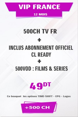 Abonnement IPTV France +500TV