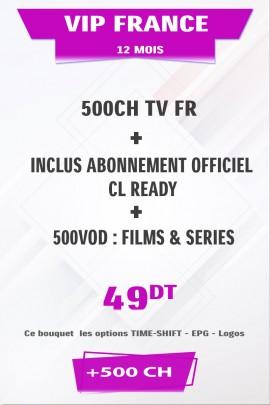 Abonnement IPTV France +500TV tunisie